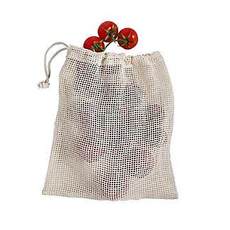 3 Unbleached Cotton Net Food Produce Bags alt image 3