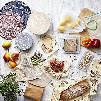 3 Unbleached Cotton Net Food Produce Bags alt image 5