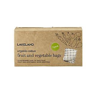 3 Unbleached Cotton Net Food Produce Bags alt image 7