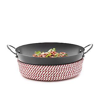 Prue's World 25cm Karahi Cooking Dish with Serving Basket