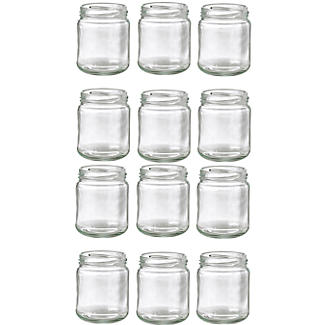 12 Small Glass Jam Jars With 12 White Lids alt image 2