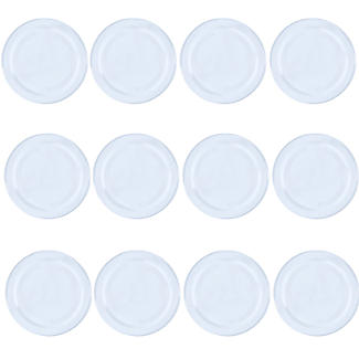 12 Small Glass Jam Jars With 12 White Lids alt image 3