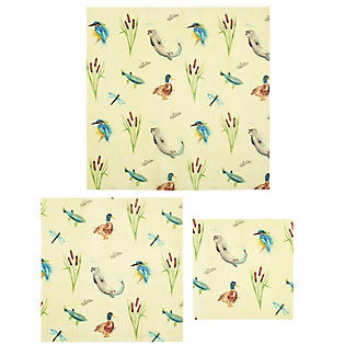 Lakeland BeeBee Reusable Beeswax Food Wraps Riverbank – Mixed Pack of 3