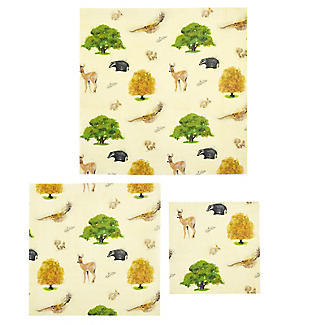 Lakeland BeeBee Reusable Beeswax Food Wraps Woodland – Family Pack of 5
