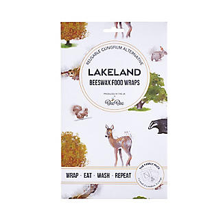 Lakeland BeeBee Reusable Beeswax Food Wraps Woodland – Family Pack of 5 alt image 4