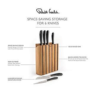 Robert Welch Signature 7-Piece Book Oak Knife Block Set alt image 6