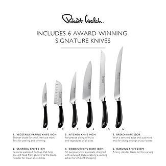 Robert Welch Signature 7-Piece Book Oak Knife Block Set alt image 7