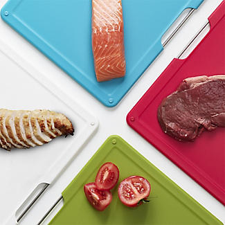 Joseph Joseph Folio 4-Piece Chopping Board Set – Large Silver alt image 4