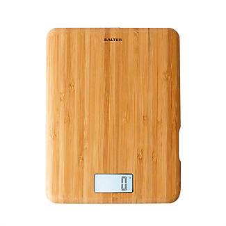 Salter Bamboo Rechargeable Digital Kitchen Weighing Scales