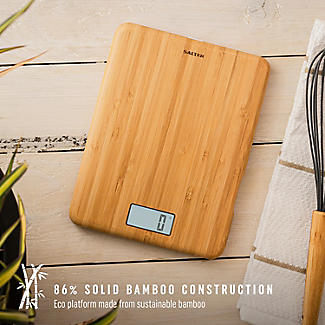 Salter Bamboo Rechargeable Digital Kitchen Weighing Scales alt image 2