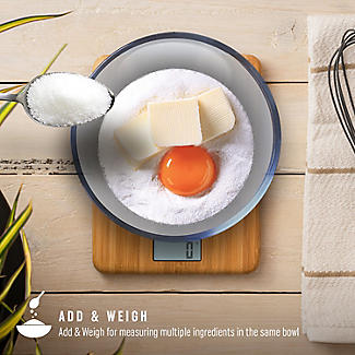 Salter Bamboo Rechargeable Digital Kitchen Weighing Scales alt image 6