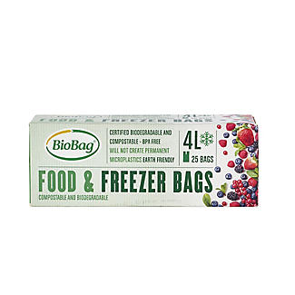25 BioBag Eco Food & Freezer Bags 4L