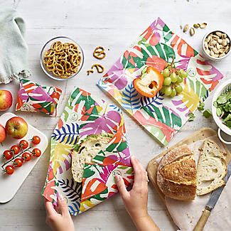 3 Lakeland Reusable Vegan-Friendly Leaf Food Wraps alt image 2