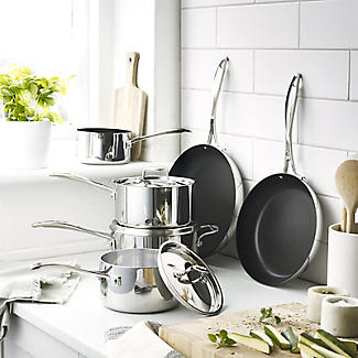 5 pc Lakeland Stainless Steel 5 Ply Pan Set alt image 2