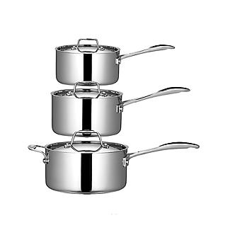 3pc Lakeland Stainless Steel 5 Ply Pan Set