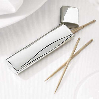 Silver-Plated Toothpick Case