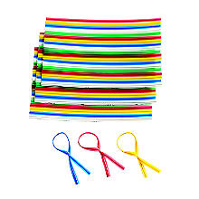 250 Colourful Plastic Bag Ties for Food & Freezer Bags