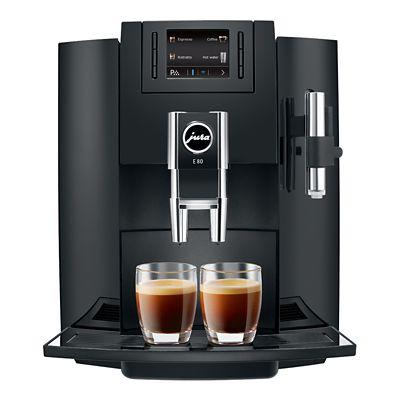 Jura E80 Beantocup Coffee Machine Piano Black 15083