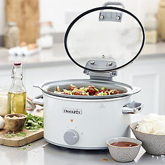 Crock-Pot DuraCeramic 4.5L Hinged Lid Slow Cooker CSC038 alt image 2