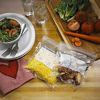 FoodSaver Small Fresh Zipper Bags 26 x 950ml alt image 2