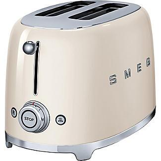 Smeg 50s Retro 2-Slice Toaster Cream TSF01CRUK alt image 2