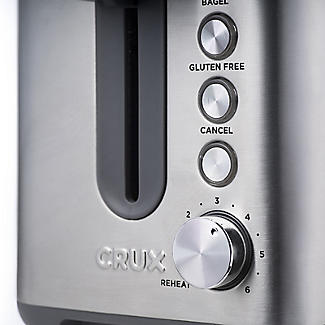 CRUX 2-Slice Toaster Stainless Steel CRUX008 alt image 7