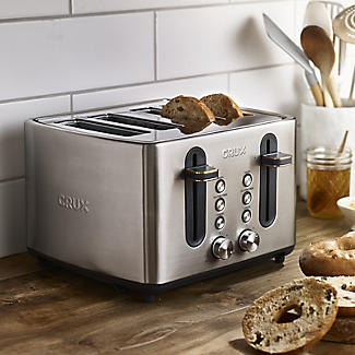 CRUX 4-Slice Toaster Stainless Steel CRUX007 alt image 2