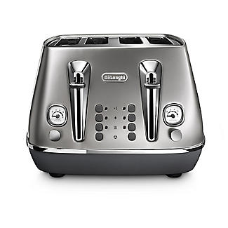 De'Longhi Distinta Flair 4-Slice Toaster Finesse Silver CTI4003.S