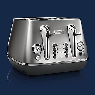 De'Longhi Distinta Flair 4-Slice Toaster Finesse Silver CTI4003.S alt image 2