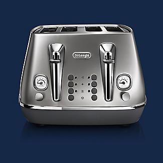 De'Longhi Distinta Flair 4-Slice Toaster Finesse Silver CTI4003.S alt image 4