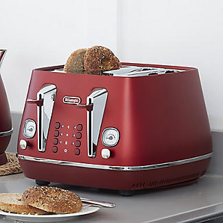 De'Longhi Distinta Flair 4-Slice Toaster Glamour Red CTI4003.R alt image 2