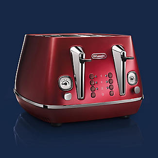 De'Longhi Distinta Flair 4-Slice Toaster Glamour Red CTI4003.R alt image 3