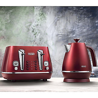 De'Longhi Distinta Flair 4-Slice Toaster Glamour Red CTI4003.R alt image 4