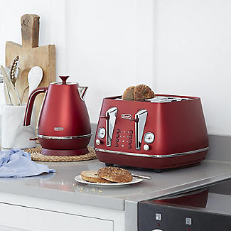 De'Longhi Distinta Flair 4-Slice Toaster Glamour Red CTI4003.R alt image 5
