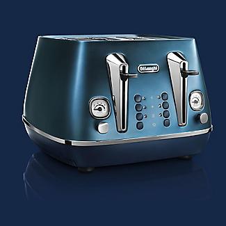 De'Longhi Distinta Flair 4-Slice Toaster Prestige Blue CTI4003.BL alt image 2