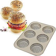 Silikomart 6-Hole Silicone Burger Bread Mould