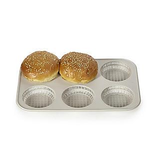 Silikomart 6-Hole Silicone Burger Bread Mould alt image 3