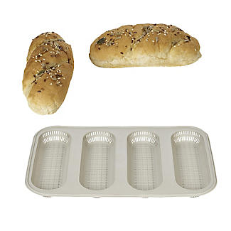 Silikomart 4-Hole Silicone Mini Baguette Bread Mould