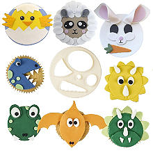 Large Mix 'n' Match Animal Face Icing Cutter – 13cm Diameter