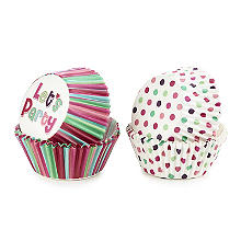 Let's Party Spots and Stripes Greaseproof Cupcake Cases 80 Pack