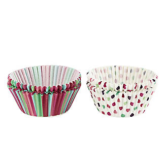 Let's Party Spots and Stripes Greaseproof Cupcake Cases 80 Pack alt image 3