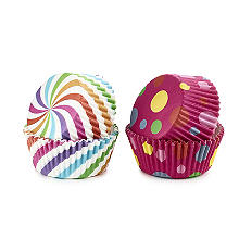 Swirls and Spots Greaseproof Cupcake Cases 80 Pack