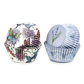 Butterfly and Lavender Greaseproof Cupcake Cases 80 Pack