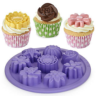 Silicone 8 Shapes Flower Cake Mould