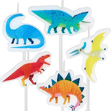 Talking Tables 5 Dinosaur Cake Candles – Pack of 5 Different Dinosaurs