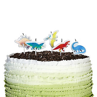 Talking Tables 5 Dinosaur Cake Candles Pack Of Different Dinosaurs Alt Image 3