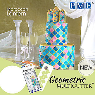 PME Geometric Multicutters Moroccan Lantern – Set of 3 alt image 4