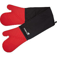 Masterclass Silicone Double Oven Glove Red