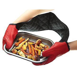 Masterclass Silicone Double Oven Glove Red alt image 2