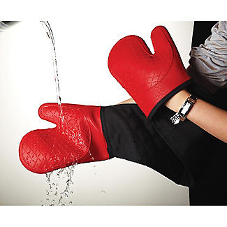 Masterclass Silicone Double Oven Glove Red alt image 3